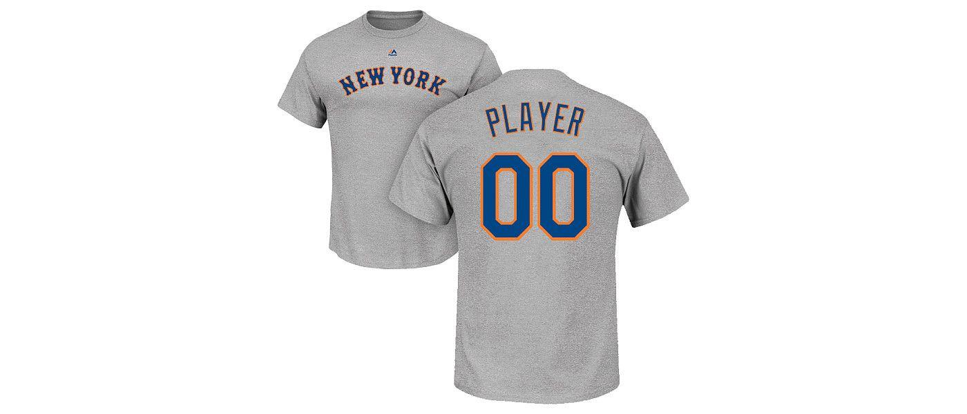 Majestic Men's Full Roster New York Mets Grey T-Shirt