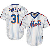 Majestic Men's Replica New York Mets Mike Piazza Cool Base White Cooperstown Jersey