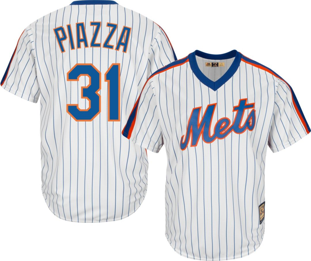 best sneakers 6c5d5 1b195 Majestic Men's Replica New York Mets Mike Piazza Cool Base White  Cooperstown Jersey