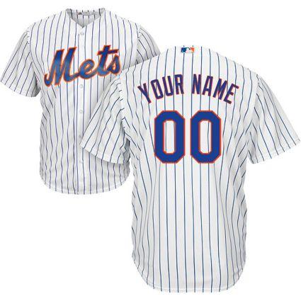 9ab2ce085 Majestic Men s Custom Cool Base Replica New York Mets Home White ...