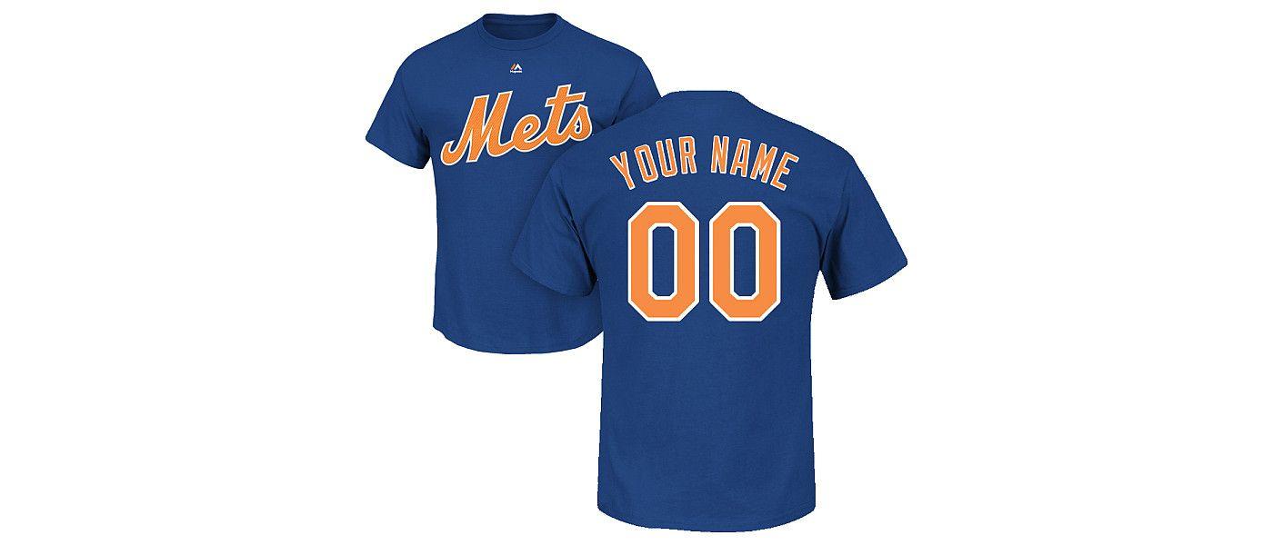 Majestic Men's Custom New York Mets Royal T-Shirt