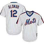 Majestic Men's Replica New York Mets Roberto Alomar Cool Base White Cooperstown Jersey