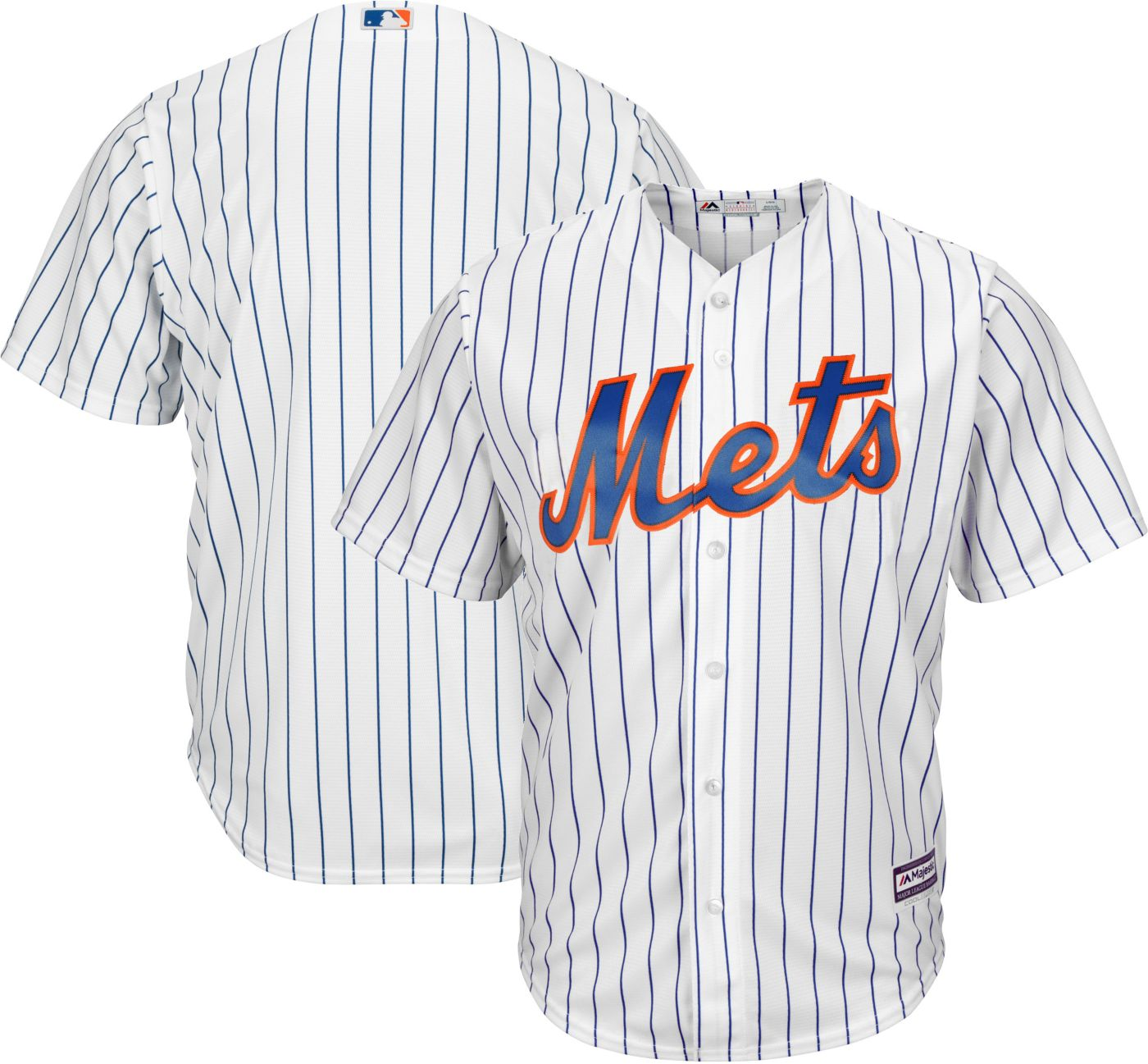 Majestic Men's Replica New York Mets Cool Base Home White Jersey