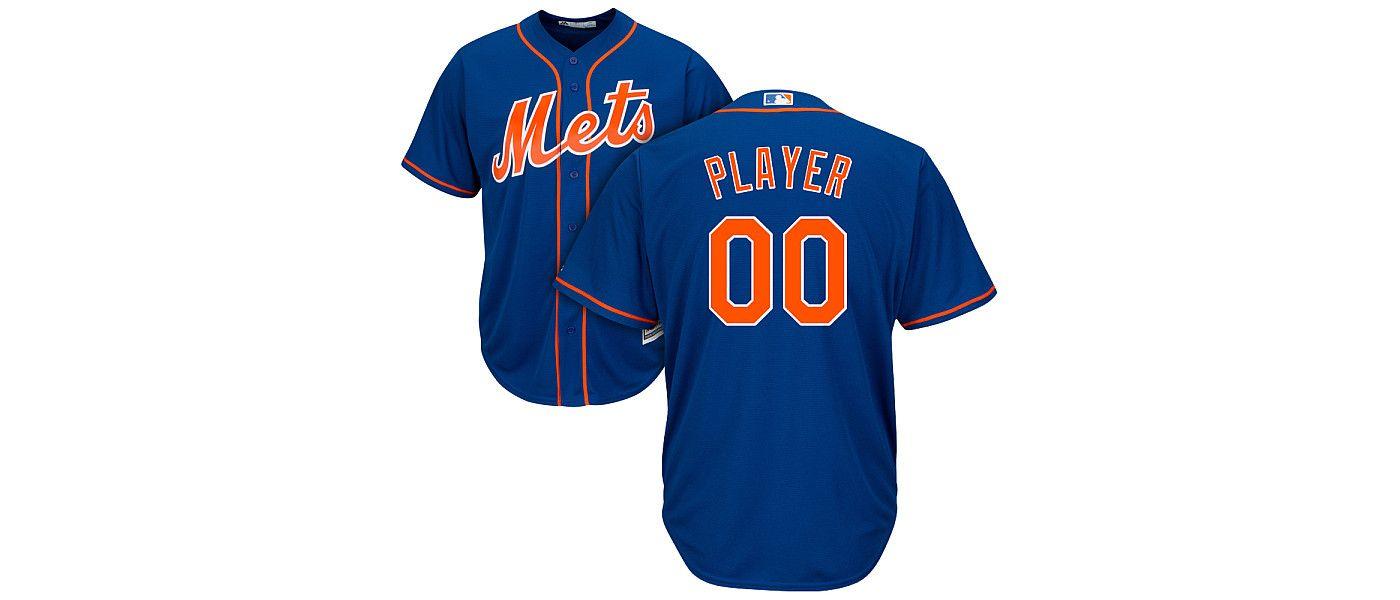 Majestic Men's Full Roster Cool Base Replica New York Mets Alternate Home Royal Jersey
