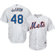 746214f94 Majestic Men s Replica New York Mets Jacob deGrom  48 Cool Base Home White  Jersey