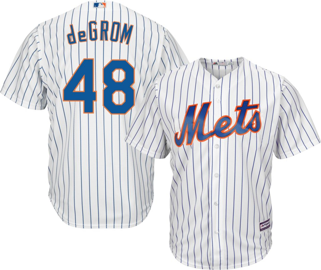 cd19b36f Majestic Men's Replica New York Mets Jacob deGrom #48 Cool Base Home White  Jersey 1