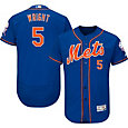 Majestic Men's Authentic New York Mets David Wright #5 Alternate Home Royal Flex Base On-Field Jersey