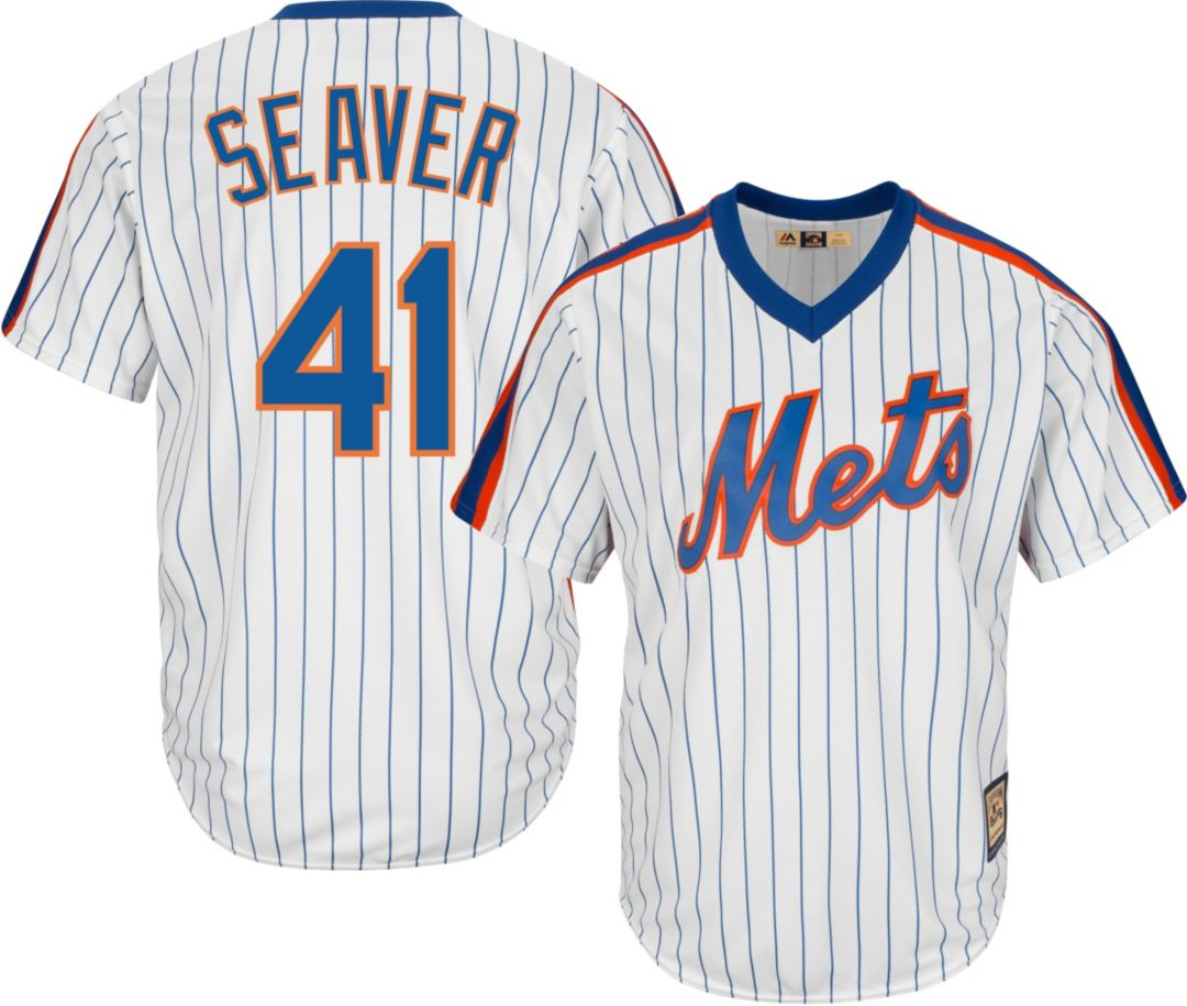 free shipping 9df8b f445c Majestic Men's Replica New York Mets Tom Seaver Cool Base White Cooperstown  Jersey