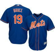 Majestic Men's Replica New York Mets Jay Bruce #19 Cool Base Alternate Home Royal Jersey