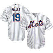 Majestic Men's Replica New York Mets Jay Bruce #19 Cool Base Home White Jersey