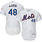 Majestic Men's Authentic New York Mets Jacob deGrom #48 Home White Flex Base On-Field Jersey