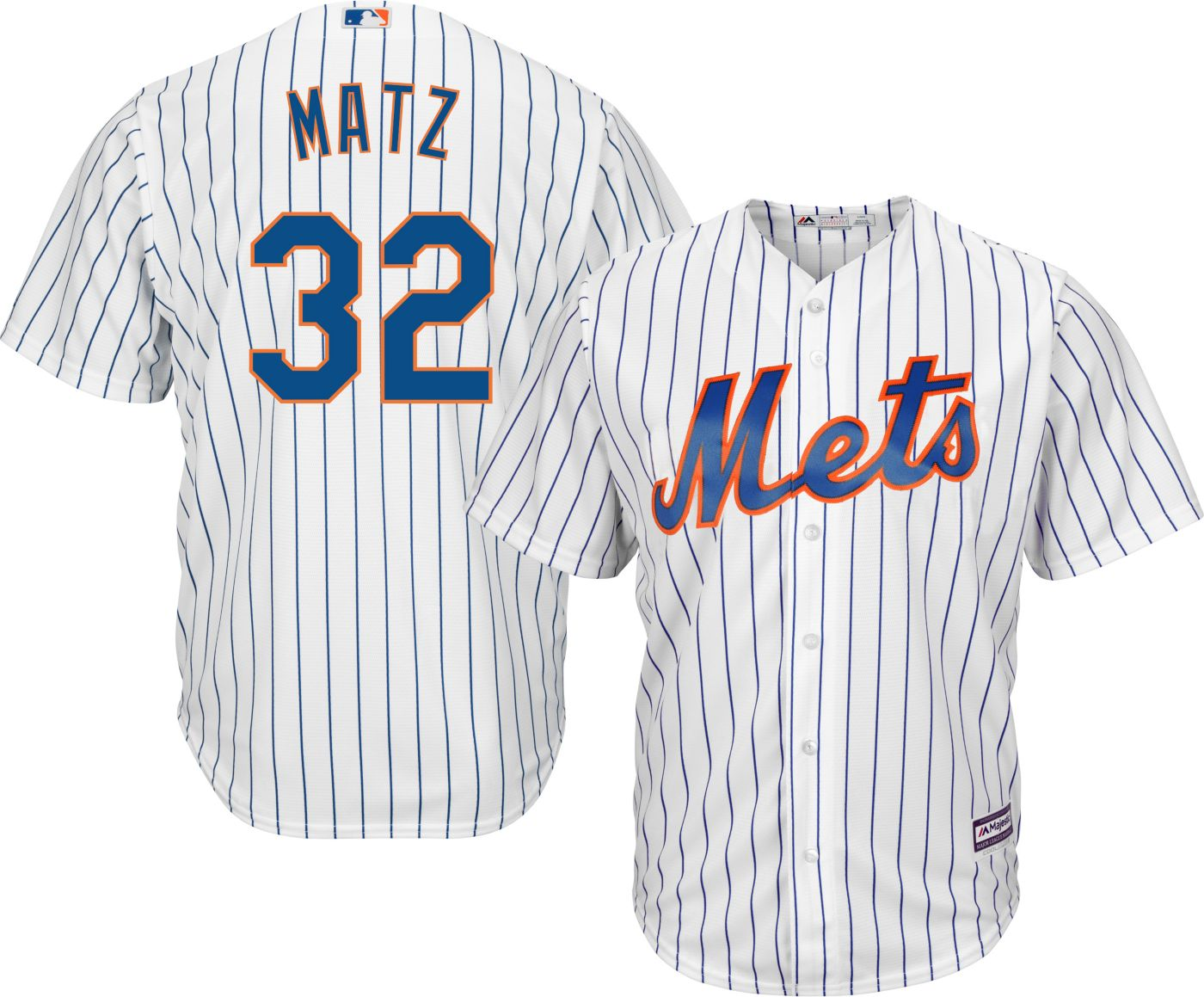 Majestic Men's Replica New York Mets Steven Matz #32 Cool Base Home White Jersey
