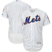 Majestic Men's Authentic New York Mets Home White Flex Base On-Field Jersey
