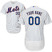 Majestic Men's Custom Authentic New York Mets Flex Base Home White On-Field Jersey