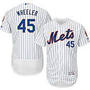Majestic Men's Authentic New York Mets Zack Wheeler #45 Home White Flex Base On-Field Jersey