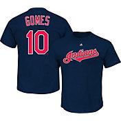 Majestic Triple Peak Men's Cleveland Indians Yan Gomes Navy T-Shirt