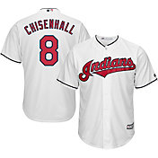 Majestic Men's Replica Cleveland Indians Lonnie Chisenhall #8 Cool Base Home White Jersey