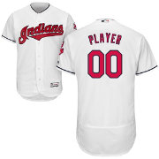 Majestic Men's Full Roster Authentic Cleveland Indians Flex Base Home White On-Field Jersey