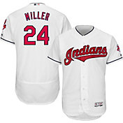Majestic Men's Authentic Cleveland Indians Andrew Miller #24 Home White Flex Base On-Field Jersey