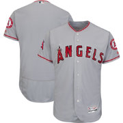 Majestic Men's Authentic Los Angeles Angels Road Grey Flex Base On-Field Jersey
