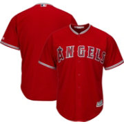 Majestic Men's Replica Los Angeles Angels Cool Base Alternate Red Jersey