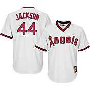 Majestic Men's Replica California Angels Reggie Jackson Cool Base White Cooperstown Jersey