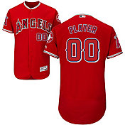 Majestic Men's Full Roster Authentic Los Angeles Angels Flex Base Alternate Red On-Field Jersey