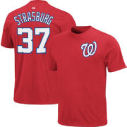 Majestic Triple Peak Men's Washington Nationals Stephen Strasburg Red T-Shirt