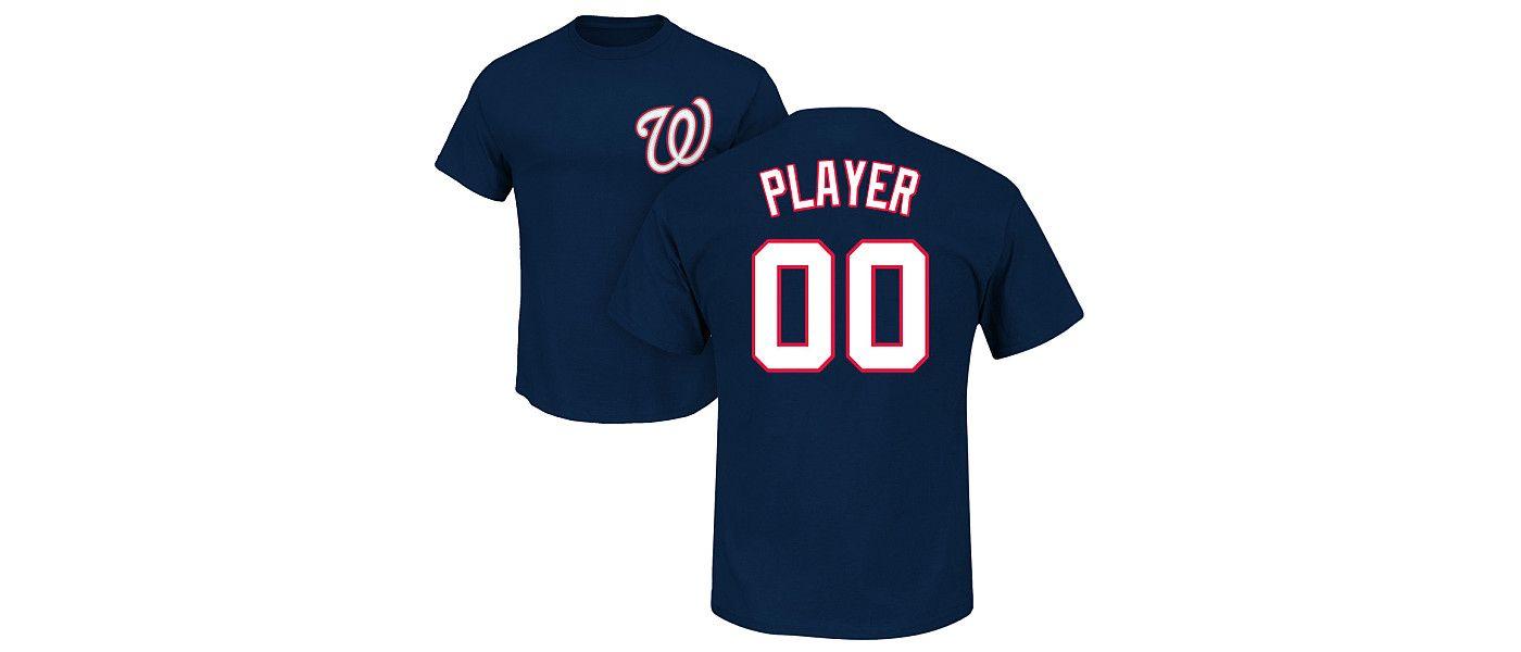 Majestic Men's Full Roster Washington Nationals Navy T-Shirt