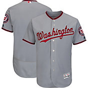 Majestic Men's Authentic Washington Nationals Road Grey Flex Base On-Field Jersey