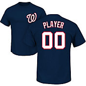 Majestic Men's Custom Washington Nationals Navy T-Shirt