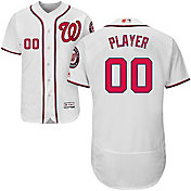 Majestic Men's Full Roster Authentic Washington Nationals Flex Base Home White On-Field Jersey