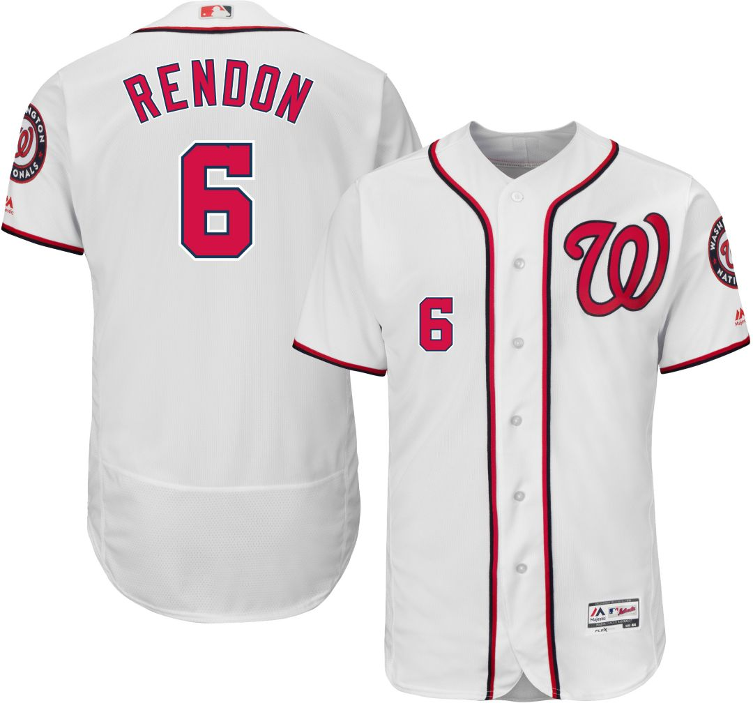 buy online cceef 79c86 Majestic Men's Authentic Washington Nationals Anthony Rendon #6 Home White  Flex Base On-Field Jersey