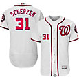 Majestic Men's Authentic Washington Nationals Max Scherzer #31 Home White Flex Base On-Field Jersey