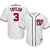 Majestic Men's Replica Washington Nationals Michael Taylor #3 Cool Base Home White Jersey