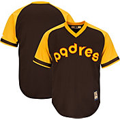 Majestic Men's Replica San Diego Padres Cool Base Brown Cooperstown Jersey