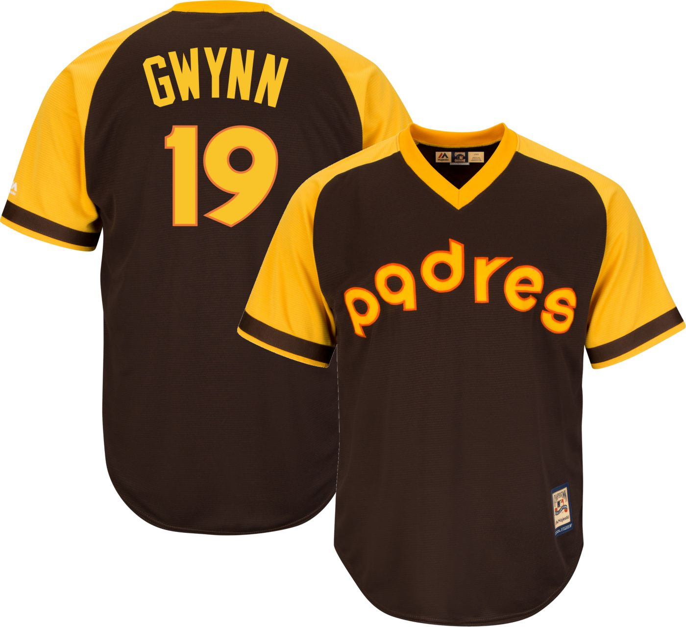 Majestic Men's Replica San Diego Padres Tony Gwynn Cool Base Brown Cooperstown Jersey