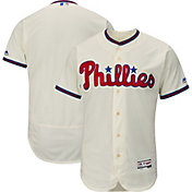 Majestic Men's Authentic Philadelphia Phillies Alternate Ivory Flex Base On-Field Jersey