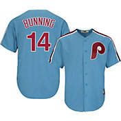 Majestic Men's Replica Philadelphia Phillies Jim Bunning Cool Base Light Blue Cooperstown Jersey