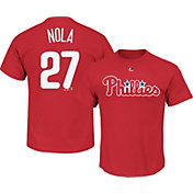 Majestic Men's Philadelphia Phillies Aaron Nola #27 Red T-Shirt