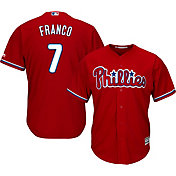 Majestic Men's Replica Philadelphia Phillies Maikel Franco #7 Cool Base Alternate Red Jersey