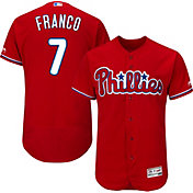 Majestic Men's Authentic Philadelphia Phillies Maikel Franco #7 Alternate Red Flex Base On-Field Jersey