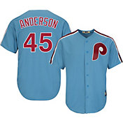 Majestic Men's Replica Philadelphia Phillies Sparky Anderson Cool Base Light Blue Cooperstown Jersey