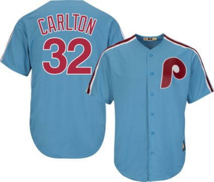 Majestic Men s Replica Philadelphia Phillies Steve Carlton Cool Base ... 3b546a2974a