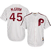 Majestic Men's Replica Philadelphia Phillies Tug McGraw Cool Base White Cooperstown Jersey