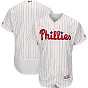 Majestic Men's Authentic Philadelphia Phillies Home White Flex Base On-Field Jersey