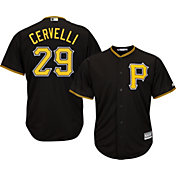 Majestic Men's Replica Pittsburgh Pirates Francisco Cervelli #29 Cool Base Alternate Black Jersey