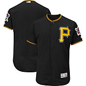 Majestic Men's Authentic Pittsburgh Pirates Alternate Black Flex Base On-Field Jersey