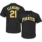 Majestic Men's Pittsburgh Pirates Roberto Clemente #21 Black T-Shirt