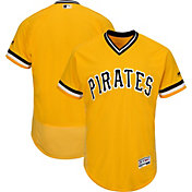 Majestic Men's Authentic Pittsburgh Pirates Alternate Gold Flex Base On-Field Jersey